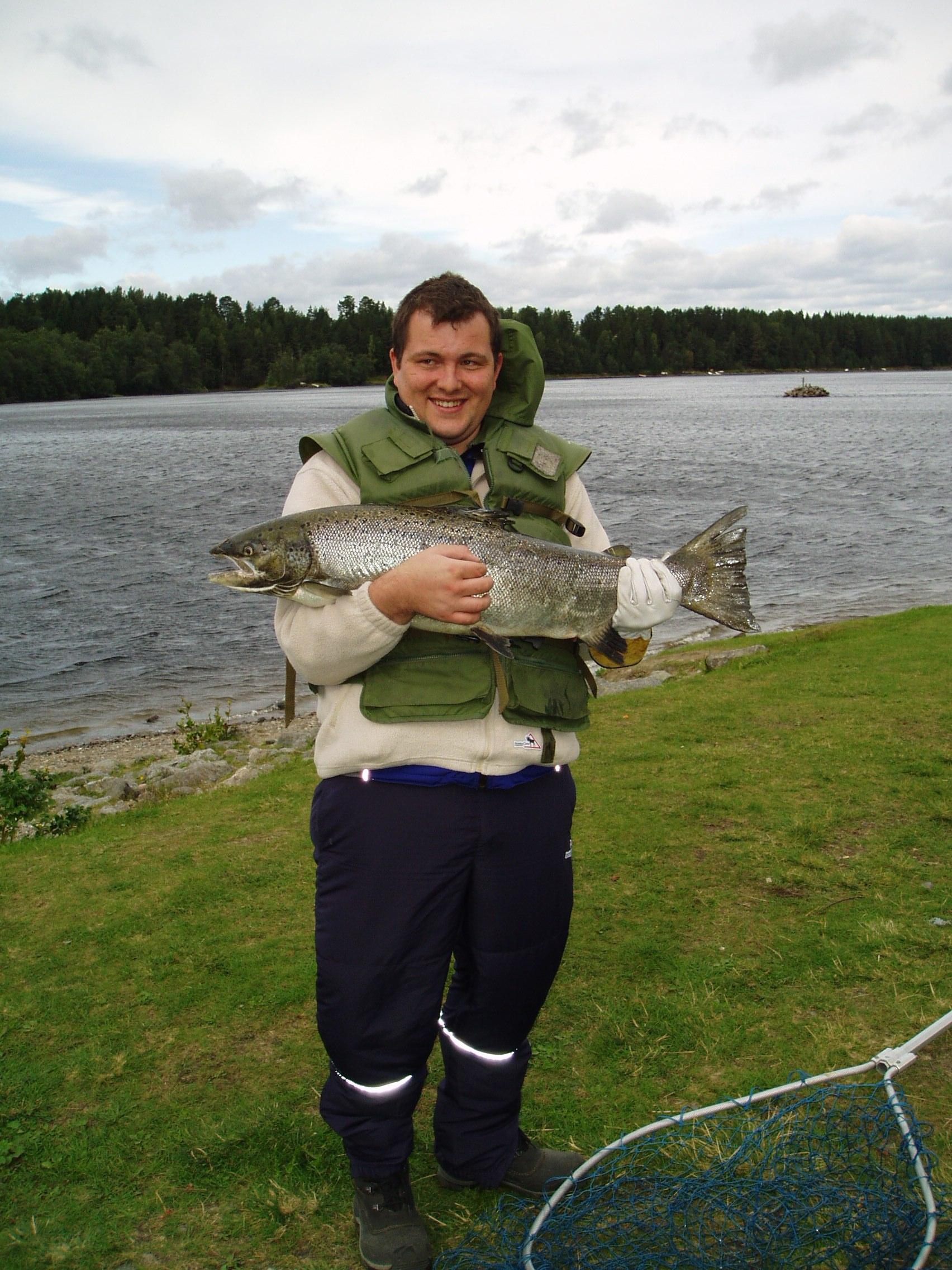 Michael angeln in Schweden
