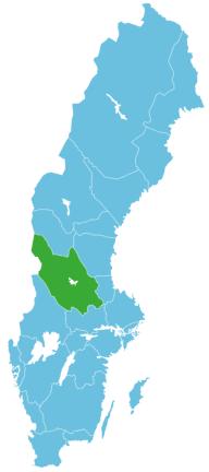 Schweden Map Dalarna