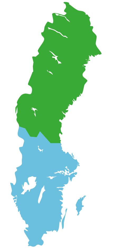 Map nordschweden