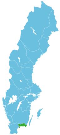 Schweden Map Blekinge