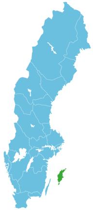 Map Gotland in Südschweden