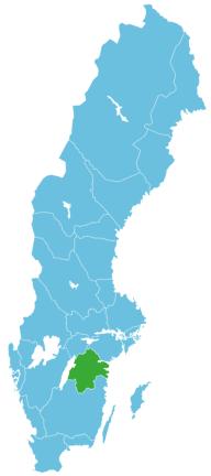 Schweden Map Östergötland