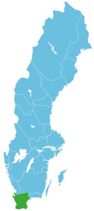 Schweden Map Skåne