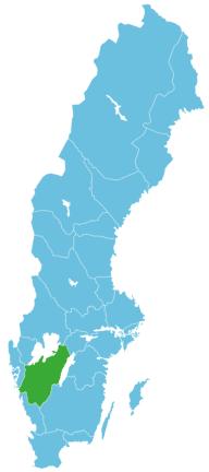 Schweden Map Västergötland
