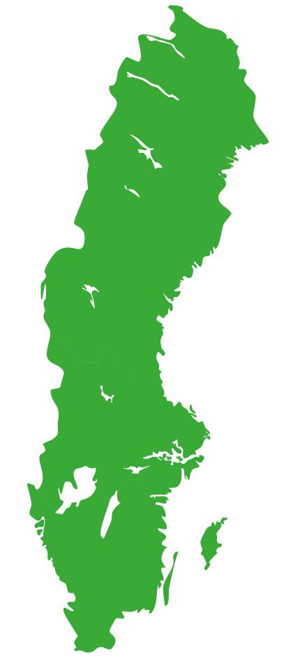 Map Schweden