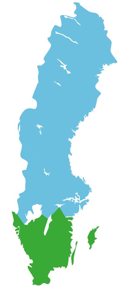 Map Südschweden
